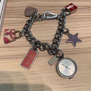 Vintage Coach Charm Bracelet Watch